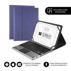 "SUBBLIM - Funda con Teclado KEYTAB PRO BLUETOOTH 10,1"" TOUCHPAD Purple"