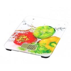 Omega - OBSKW báscula de cocina Báscula electrónica de cocina Multicolor Encimera Rectángulo