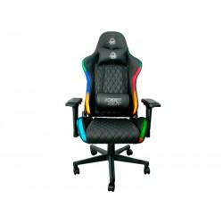 KeepOut - XSPRO-RGB silla para videojuegos Butaca para jugar Asiento acolchado Negro