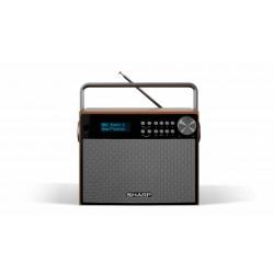 Sharp - DR-P350 radio Portátil Digital Negro, Madera