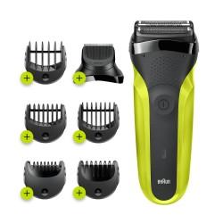 Braun - Series 3 81702942 afeitadora Máquina de afeitar de láminas Recortadora Negro, Verde