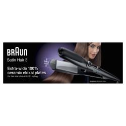 Braun - Satin Hair 3 ST 310 Plancha de pelo Caliente Negro, Plata 2 m
