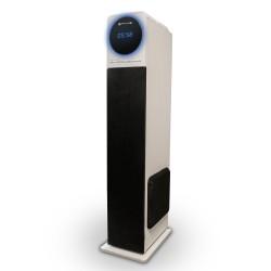 TALIUS - altavoz torre Nina 60W con bluetooth, radio FM, USB, SD y mando a distancia white