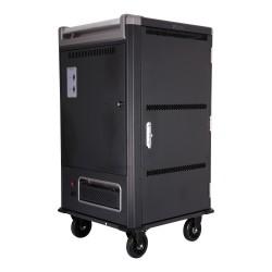 V7 - Armario de carga para 30 dispositivos: proteja, almacene y cargue Chromebooks, portátiles y tabletas (toma de corriente Sch