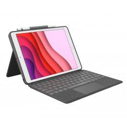 Logitech - Combo Touch teclado para móvil QWERTY Español Grafito Smart Connector