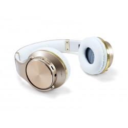 Conceptronic - CHSPBTNFCSPKG auricular y casco Auriculares Diadema Oro, Blanco