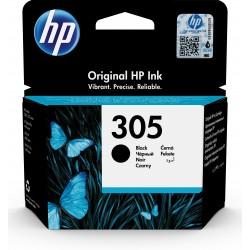 HP - 305 Black Original Ink Cartridge 1 pieza(s) Rendimiento estándar Negro