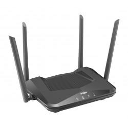 D-Link - DIR-X1560 router inalámbrico Doble banda (2,4 GHz / 5 GHz) Gigabit Ethernet Negro