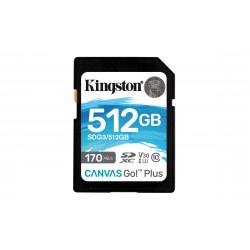Kingston Technology - Canvas Go! Plus memoria flash 512 GB SD Clase 10 UHS-I