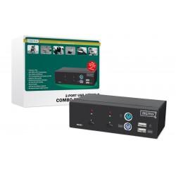 Digitus - USB-PS/2 Combo-KVM switch interruptor KVM Negro