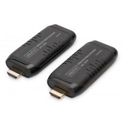 Digitus - DS-55309 extensor audio/video Transmisor y receptor de señales AV Negro