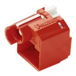 Panduit - PSL-DCPLRX protector de cable Rojo 10 pieza(s)