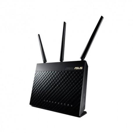 ASUS - RT-AC68U Doble banda (2,4 GHz / 5 GHz) Gigabit Ethernet Negro router inalámbrico