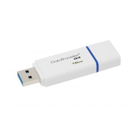 Kingston Technology - DataTraveler G4 16GB 16GB USB 3.0 (3.1 Gen 1) Conector USB Tipo A Azul, Blanco unidad flash U