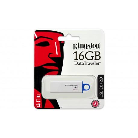 Kingston Technology - DataTraveler G4 16GB 16GB USB 3.0 (3.1 Gen 1) Capacity Azul, Blanco unidad flash USB