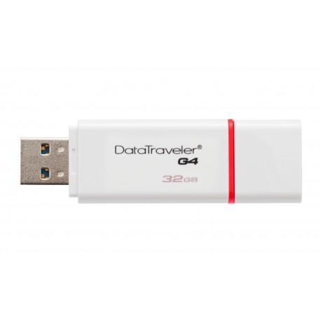 Kingston Technology - DataTraveler G4 32GB 32GB USB 3.0 (3.1 Gen 1) Conector USB Tipo A Rojo, Blanco unidad flash U