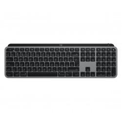 Logitech - MX Keys teclado RF Wireless + Bluetooth QWERTY Español Aluminio, Negro