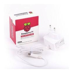 Raspberry Pi - RASPBERRY FUENTE DE ALIMENTACION USB-C 5.1V 3A - BLANCO - PARA RASPBERRY PI 4 (1873421)