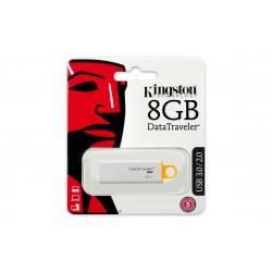 Kingston Technology - DataTraveler G4 8GB 8GB USB 3.0 (3.1 Gen 1) Tipo A Color blanco, Amarillo unidad flash USB