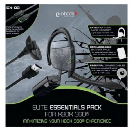 Gioteck - Elite Essentials Pack, Xbox 360