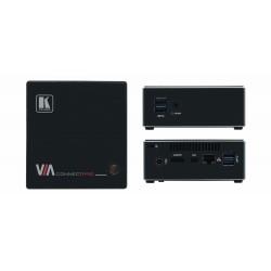 Kramer Electronics - VIA Connect PRO Transmisor y receptor de señales AV Negro