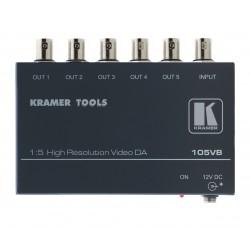 Kramer Electronics - 105VB amplificador de línea de video 400 MHz Negro