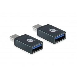 Conceptronic - DONN03G adaptador de cable USB 3.1 Gen 1 Type-C USB 3.1 Gen 1 Type-A Negro