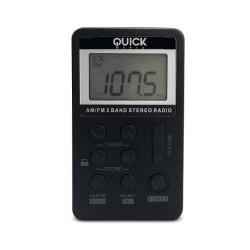 Quick Media - QUICKMEDIA RADIO AM/FM STEREO. NEGRO (QMRDD29)