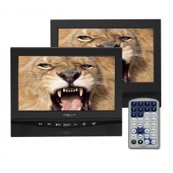 """Nevir - NVR-2778DVD-PDCU reproductor de dvd/bluray portátiles Reproductor de DVD portátil Montado en pared Negro 25,6 cm (10.1"""")"""