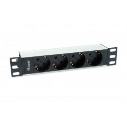 Equip - 333311 unidad de distribución de energía (PDU) 1U Negro, Plata 4 salidas AC
