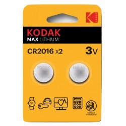 Kodak - CR2016 Batería de un solo uso Litio