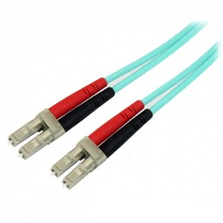 StarTech.com - Cable de Red de 2m Multimodo Dúplex Fibra Óptica LC-LC 50/125 Libre de Halógenos- LSZH - Aguamarina