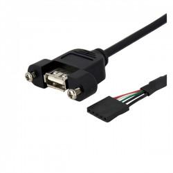 StarTech.com - Cable de 91cm USB 2.0 para Montaje en Panel conexión a Placa Base IDC 5 Pines - Hembra USB A
