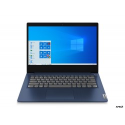 "Lenovo - IdeaPad 3 Portátil Azul 35,6 cm (14"") 1366 x 768 Pixeles AMD 3000 4 GB DDR4-SDRAM 128 GB SSD Wi-Fi 5 (802.11ac) Windows"