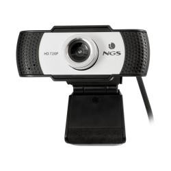 NGS - XpressCam720 cámara web 1280 x 720 Pixeles USB 2.0 Negro, Gris, Plata