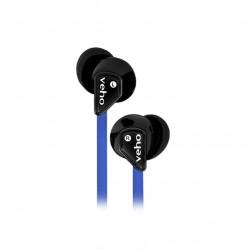 Veho - Z1 Auriculares Dentro de oído Negro, Azul Conector de 3,5 mm