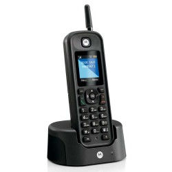 Motorola - O201 Teléfono DECT Negro Identificador de llamadas