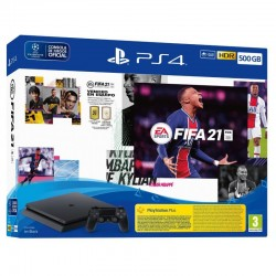 Sony - PlayStation 4 500GB + FIFA 21 Negro Wifi