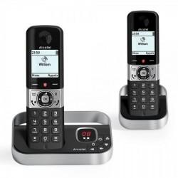 Alcatel - F890 Voice Duo zwart Teléfono DECT Identificador de llamadas Negro, Plata