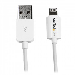StarTech.com - Cable 15cm Lightning 8 Pin a USB A 2.0 para Apple iPod iPhone 5 iPad - Blanco