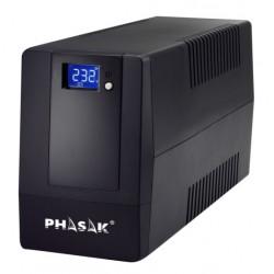 Phasak - PH 9464 sistema de alimentación ininterrumpida (UPS) 600 VA 360 W 2 salidas AC