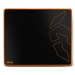 Krom - Knout Speed Black Negro, Naranja Alfombrilla de ratón para juegos