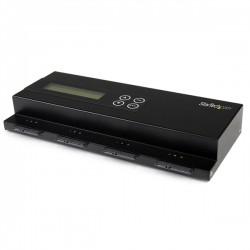 StarTech.com - Duplicador Clonador Autónomo de Discos Duros SATA - Copiador Independiente de 3 HDD con Borrado Segu