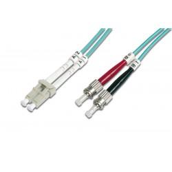 Digitus - DK-2531-01/3 cable de fibra optica 1 m LC ST/BFOC Azul