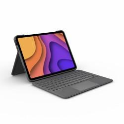Logitech - Folio Touch QWERTY Español Gris Smart Connector