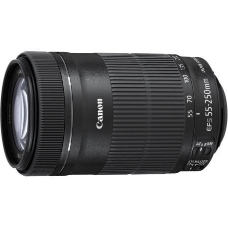 Canon - EF-S 55-250mm f/4-5.6 IS STM SLR Telephoto lens Negro