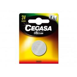 Cegasa - 021475 pila doméstica Batería de un solo uso CR2025 Litio
