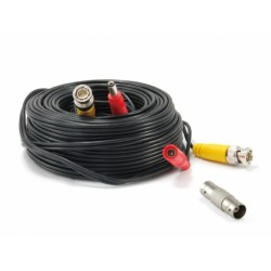 Conceptronic - CCBNC18 cable coaxial 18 m BNC+DC Negro, Rojo, Amarillo