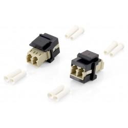 Equip - 125570 adaptador de fibra óptica LC/LC 8 pieza(s) Beige, Negro