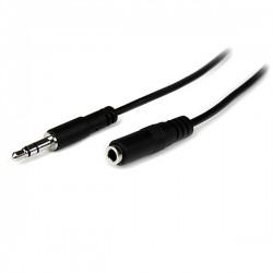 StarTech.com - Cable de 2m de Extensión Alargador de Auriculares Mini-Jack 3,5mm Estéreo Macho a Hembra - Delgado